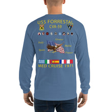Load image into Gallery viewer, USS Forrestal (CVA-59) 1971 Long Sleeve Cruise Shirt