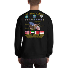 Load image into Gallery viewer, USS Nimitz (CVN-68) 2003 Cruise Sweatshirt