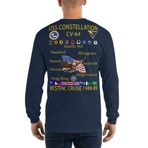 USS Constellation (CV-64) 1988-89 Long Sleeve Cruise Shirt