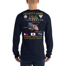 Load image into Gallery viewer, USS Kitty Hawk (CVA-63) 1972 Long Sleeve Cruise Shirt