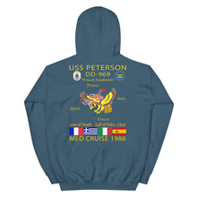 Load image into Gallery viewer, USS Peterson (DD-969) 1986 Cruise Hoodie