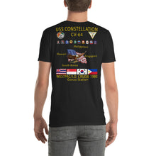 Load image into Gallery viewer, USS Constellation (CV-64) 1980 Cruise Shirt - Gonzo Station