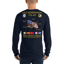 Load image into Gallery viewer, USS Normandy (CG-60) 1993-94 Long Sleeve Cruise Shirt