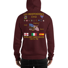 Load image into Gallery viewer, USS Independence (CV-62) 1975-76 Cruise Hoodie