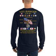 Load image into Gallery viewer, USS Ranger (CV-61) 1992-93 Long Sleeve Cruise Shirt