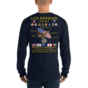 USS Ranger (CV-61) 1992-93 Long Sleeve Cruise Shirt