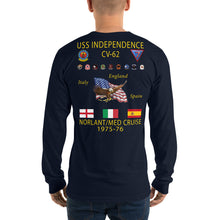 Load image into Gallery viewer, USS Independence (CV-62) 1975-76 Long Sleeve Cruise Shirt