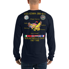 Load image into Gallery viewer, USS Iowa (BB-61) 1987-88 Long Sleeve Cruise Shirt