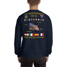 Load image into Gallery viewer, USS Independence (CVA-62) 1963-64 Cruise Sweatshirt