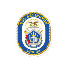 Load image into Gallery viewer, USS Arlington (LPD-24) Ship's Crest Vinyl Sticker