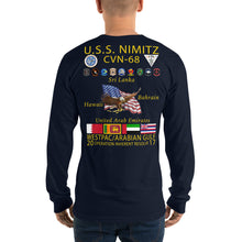 Load image into Gallery viewer, USS Nimitz (CVN-68) 2017 Long Sleeve Cruise Shirt