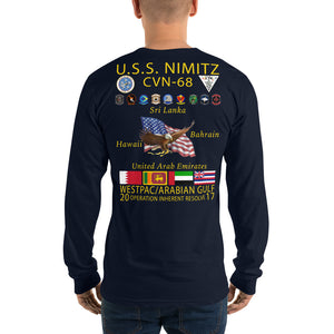 USS Nimitz (CVN-68) 2017 Long Sleeve Cruise Shirt