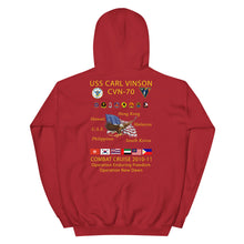 Load image into Gallery viewer, USS Carl Vinson (CVN-70) 2010-11 Cruise Hoodie