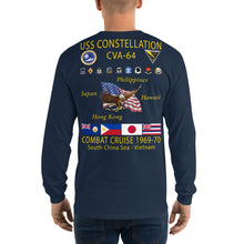 Load image into Gallery viewer, USS Constellation (CVA-64) 1969-70 Long Sleeve Cruise Shirt