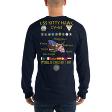 Load image into Gallery viewer, USS Kitty Hawk (CV-63) 1987 Long Sleeve Cruise Shirt
