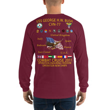 Load image into Gallery viewer, USS George HW Bush (CVN-77) 2011 Long Sleeve Cruise Shirt