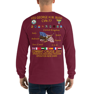 USS George HW Bush (CVN-77) 2011 Long Sleeve Cruise Shirt