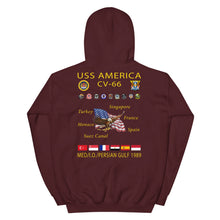 Load image into Gallery viewer, USS America (CV-66) 1989 Cruise Hoodie