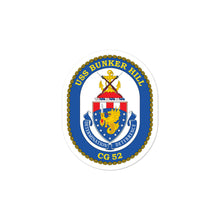 Load image into Gallery viewer, USS Bunker Hill (CG-52) Ship's Crest Vinyl Sticker