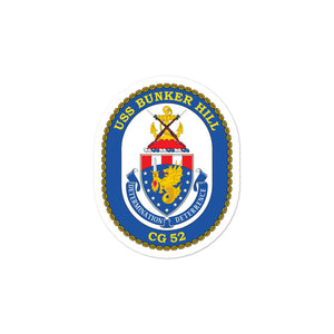 USS Bunker Hill (CG-52) Ship's Crest Vinyl Sticker