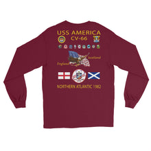 Load image into Gallery viewer, USS America (CV-66) 1982 Long Sleeve Cruise Shirt