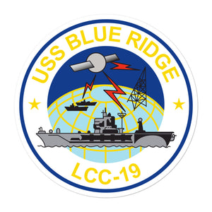 USS Blue Ridge (LCC-19) Ship's Crest Vinyl Sticker