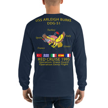Load image into Gallery viewer, USS Arleigh Burke (DDG-51) 1995 Long Sleeve Cruise Shirt