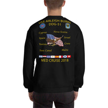Load image into Gallery viewer, USS Arleigh Burke (DDG-51) 2018 Cruise Sweatshirt