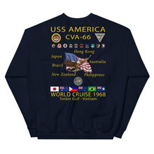 Load image into Gallery viewer, USS America (CVA-66) 1968 Cruise Sweatshirt