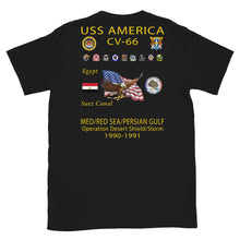 Load image into Gallery viewer, USS America (CV-66) 1990-91 Cruise Shirt (Ver 1)