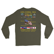 Load image into Gallery viewer, USS Coral Sea (CVA-43) 1968-69 Long Sleeve Cruise Shirt