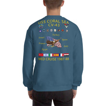 Load image into Gallery viewer, USS Coral Sea (CV-43) 1987-88 Cruise Sweatshirt
