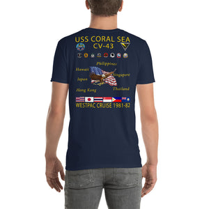USS Coral Sea (CV-43) 1981-82 Cruise Shirt