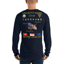 Load image into Gallery viewer, USS Kitty Hawk (CV-63) 2002 Long Sleeve Cruise Shirt