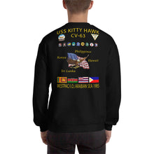 Load image into Gallery viewer, USS Kitty Hawk (CV-63) 1985 Cruise Sweatshirt
