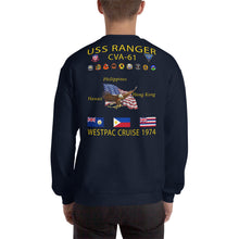 Load image into Gallery viewer, USS Ranger (CVA-61) 1974 Cruise Sweatshirt