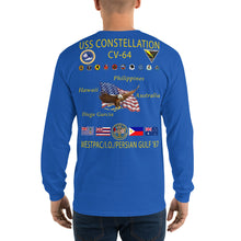 Load image into Gallery viewer, USS Constellation (CV-64) 1987 Long Sleeve Cruise Shirt