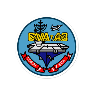 USS Coral Sea (CVA-43) Ship's Crest Vinyl Sticker