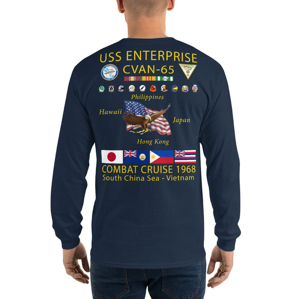USS Enterprise (CVAN-65) 1968 Long Sleeve Cruise Shirt