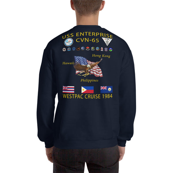 USS Enterprise (CVN-65) 1984 Cruise Sweatshirt