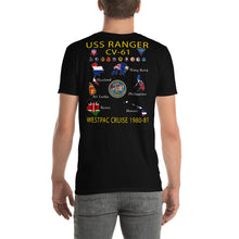 Load image into Gallery viewer, USS Ranger (CV-61) 1980-81 Cruise Shirt - Map