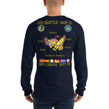 Load image into Gallery viewer, USS Seattle (AOE-3) 1977-78 Long Sleeve Cruise Shirt
