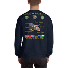 Load image into Gallery viewer, USS Mars (AFS-1) 1987 Cruise Sweatshirt