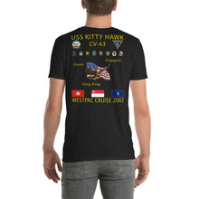 Load image into Gallery viewer, USS Kitty Hawk (CV-63) 2002 Cruise Shirt