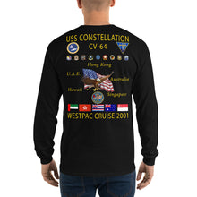 Load image into Gallery viewer, USS Constellation (CV-64) 2001 Long Sleeve Cruise Shirt