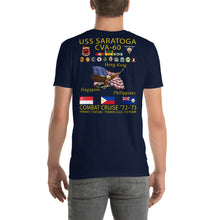 Load image into Gallery viewer, USS Saratoga (CVA-60) 1972-73 Cruise Shirt