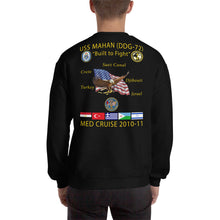 Load image into Gallery viewer, USS Mahan (DDG-72) 2010-11 Cruise Sweatshirt
