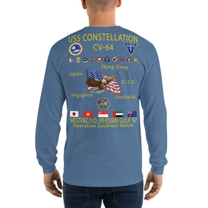 USS Constellation (CV-64) 1997 Long Sleeve Cruise Shirt
