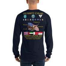 Load image into Gallery viewer, USS Nimitz (CVN-68) 2003 Long Sleeve Cruise Shirt