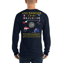 Load image into Gallery viewer, USS Ranger (CV-61) 1992-93 Long Sleeve Cruise Shirt - Map